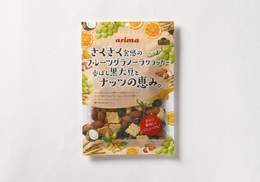さくさく食感のフルーツクラッカー香ばし黒大豆とナッツの恵み